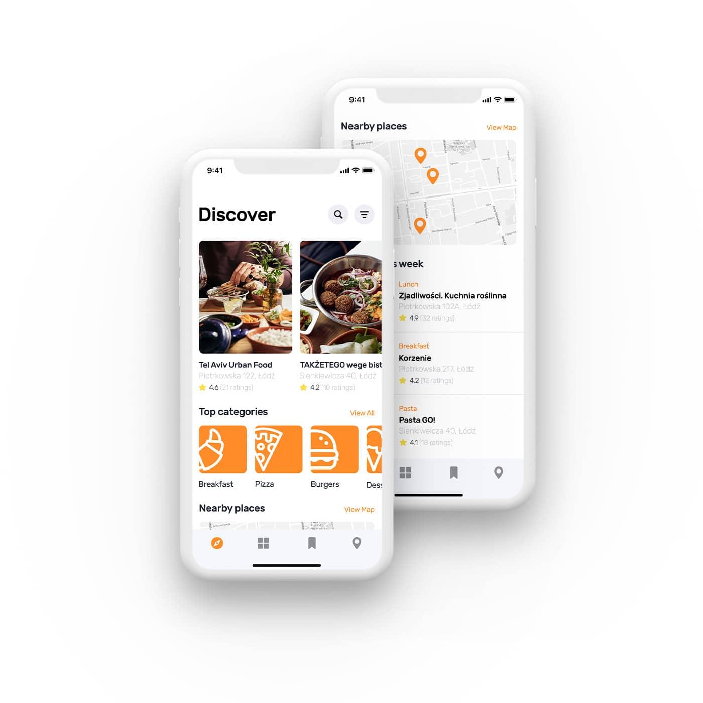 projekt aplikacji mobilnej ekran główny