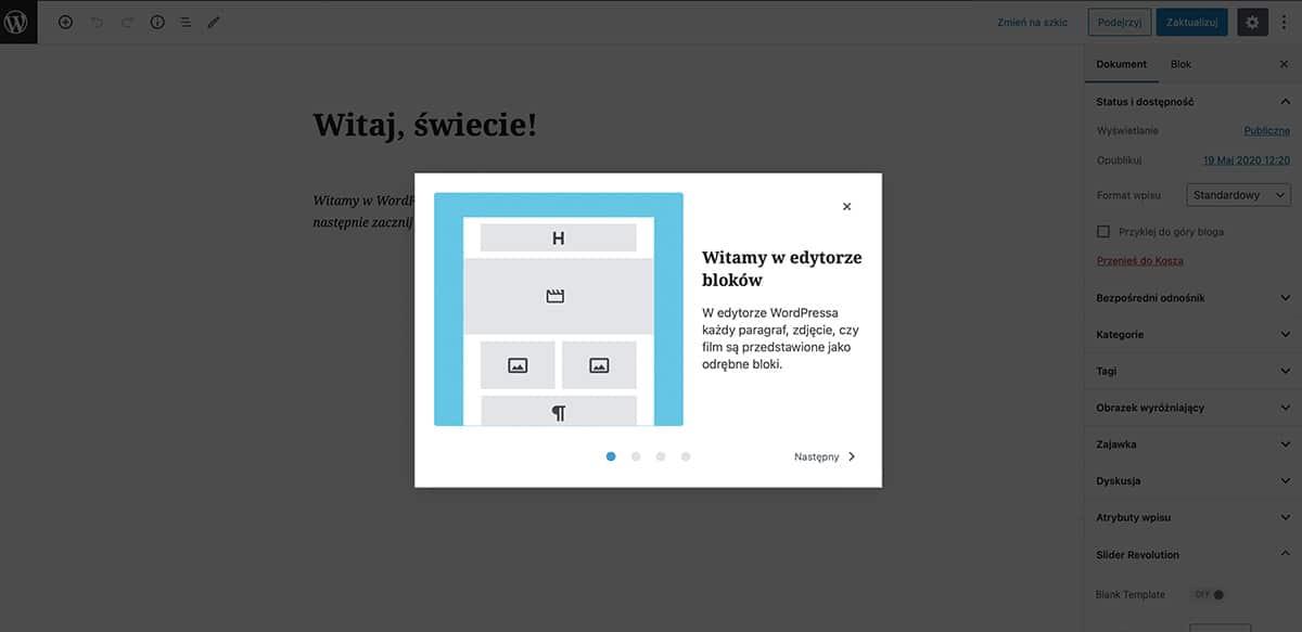 jak dodawać wpisy w WordPressie
